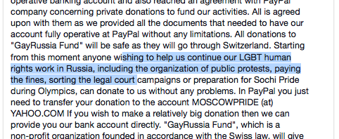 Supporting Queers in Russia
